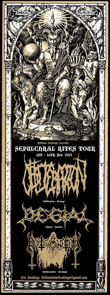 Obliteration, Degial - flyer tour - 2013