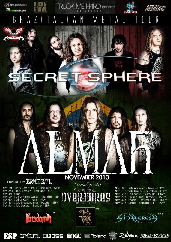 Secret sphere - Almah - locandina tour - 2013