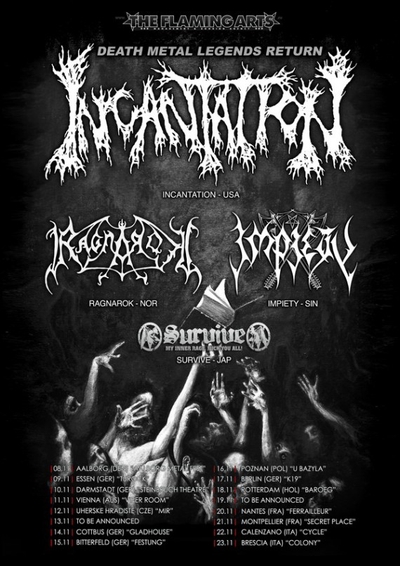 incantation - locandina tour - 2013