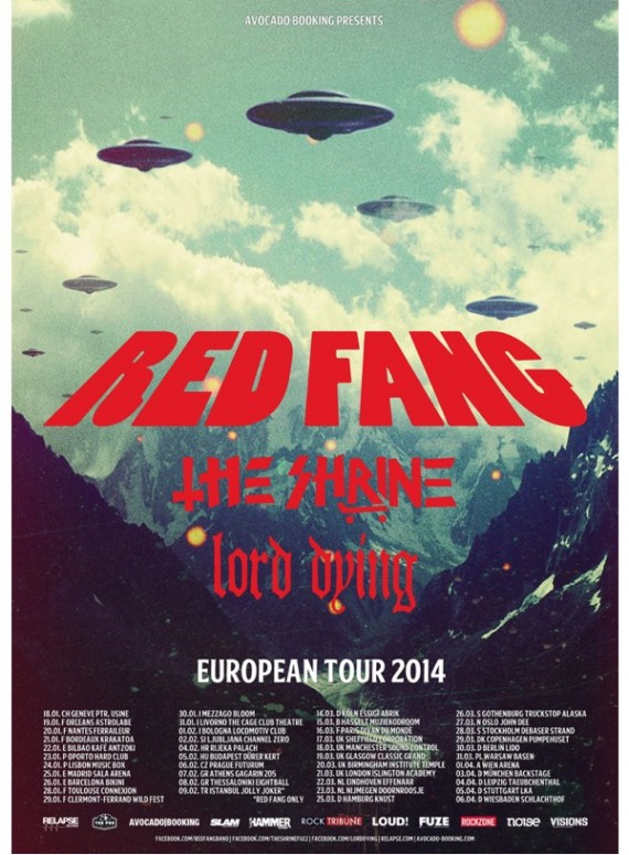red fang - locandina tour - 2013