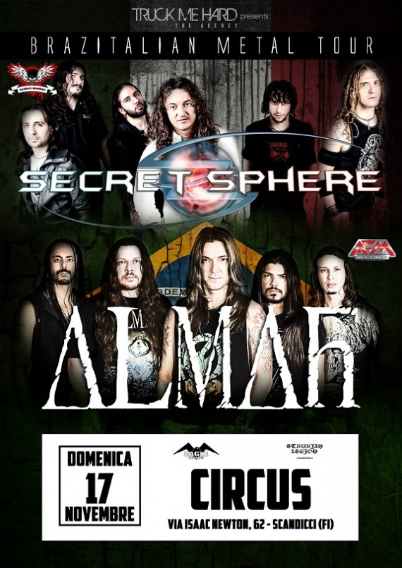 secret sphere - almah - locandina firenze - 2013
