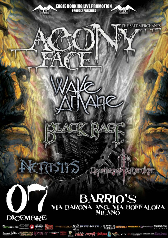 Agony Face Black Rage wake arkane - release party milano - 2013