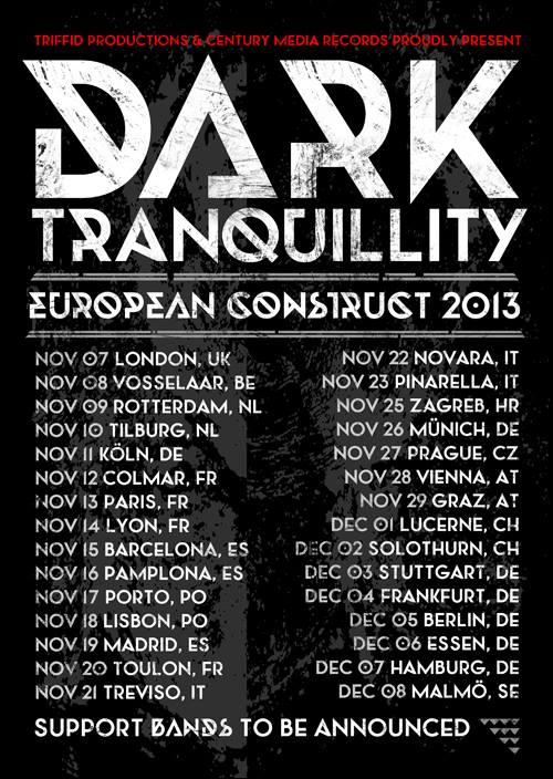 Dark Tranquillity - locandina - 2013