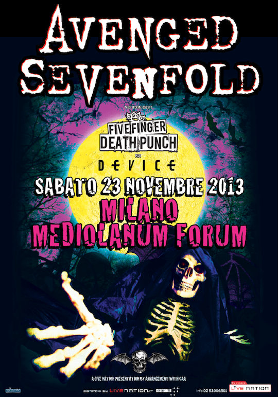 avenged sevenfold - locandina - 2013