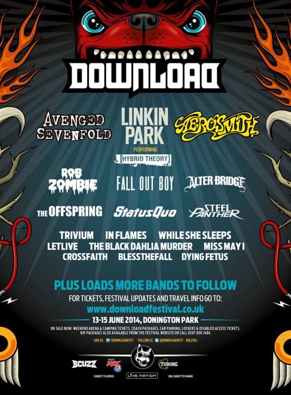 download festival - cartellone aggiornato - 2014