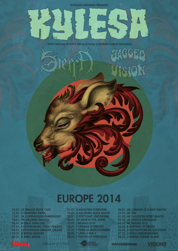 kylesa - tour europeo - 2014
