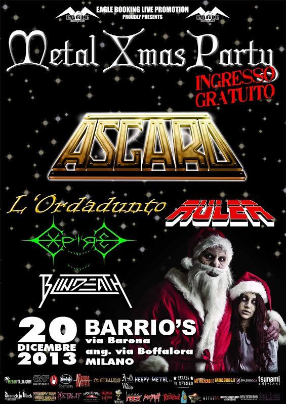 metal xmas party - locandina - 2013