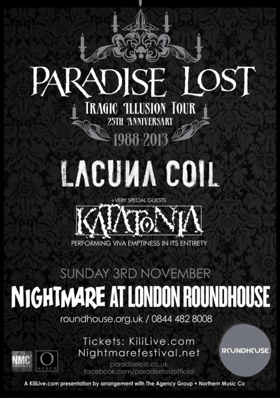paradise lost - locandina londra - 2013
