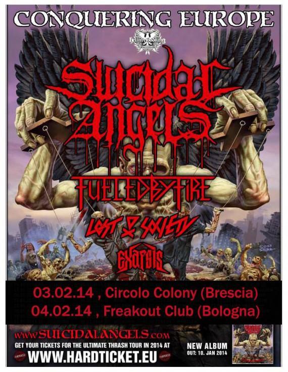 sucidal angels - live italia - 2013