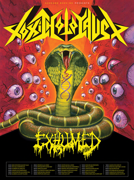 toxic holocaust - exhumed - locandina tour - 2013
