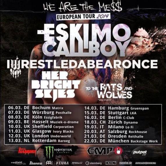 ESKIMO CALLBOY - IWRESTLEDABEARONCE - tour europeo - 2014