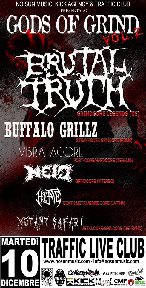 brutal truth roma 2013