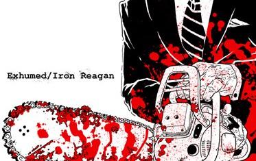 exhumed - iron reagan - split - 2014