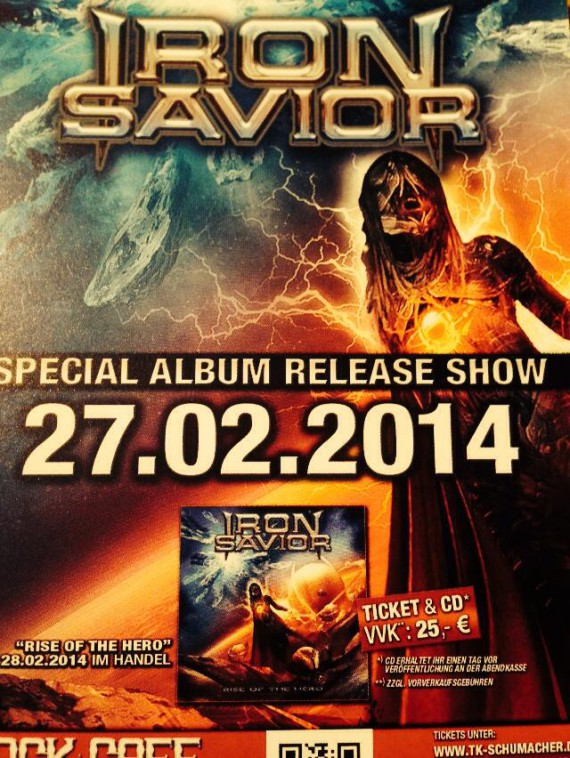 iron savior - release party rise of the hero amburgo - 2014
