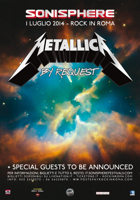 metallica - sonisphere newsletter final - 2013