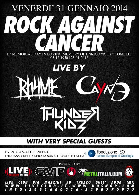 rock against cancer 2014 - prima locandina
