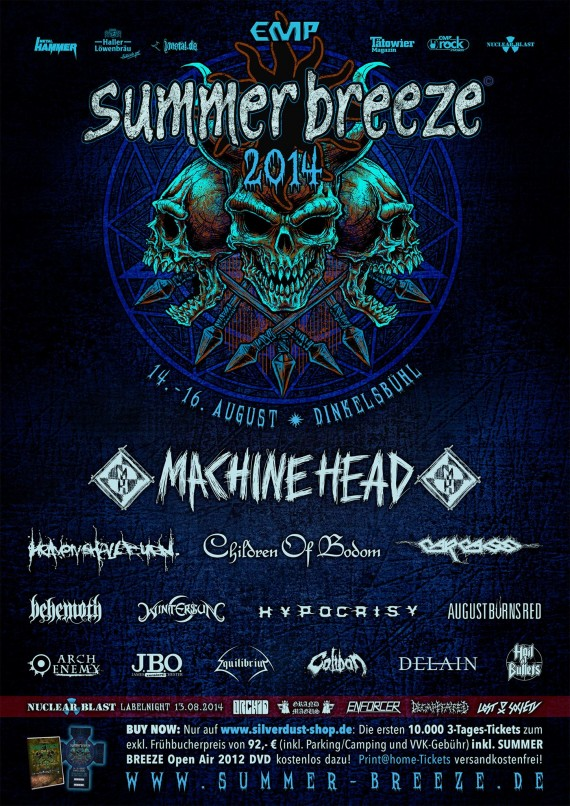summer breeze - locandina machine head - 2014