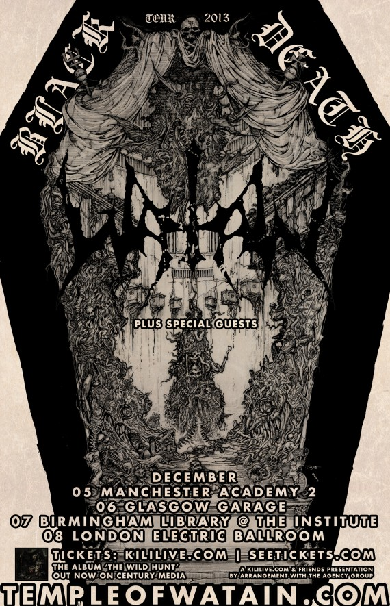 watain - locandina uk tour - 2013