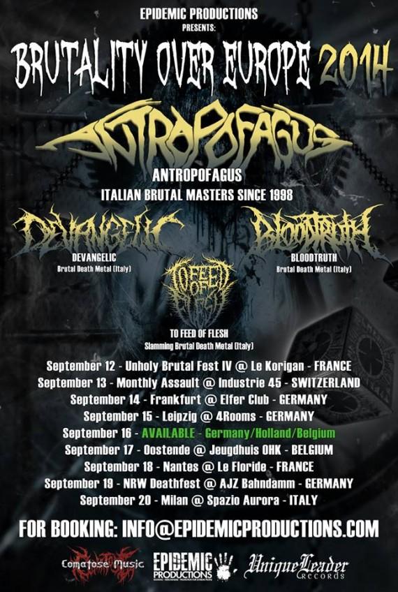 Antropofagus - flyer tour - 2014