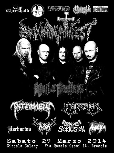 Brixia Death Fest - flyer - 2014