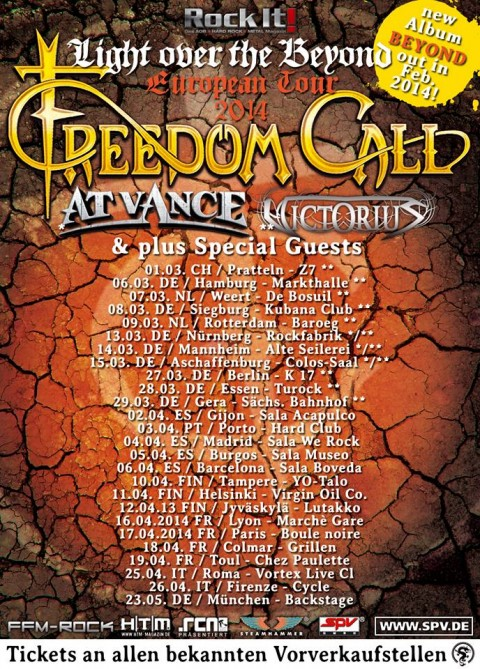 freedom call at vance - tour 2014