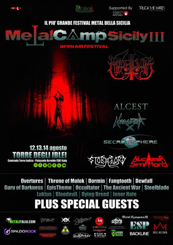 metal camp sicily 2014 - locandina aggiornamento gennaio