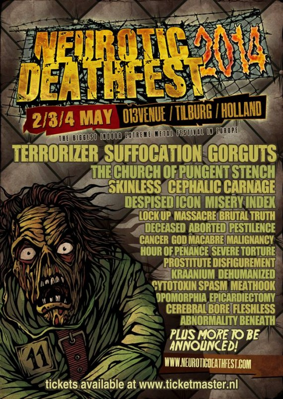 Neurotic Deathfest 2014 - flyer aggiornato