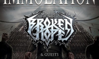 IMMOLATION+BROKEN_HOPE - Flyer - 2014