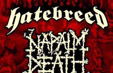 hatebreed + napalm death - magnolia - 2014