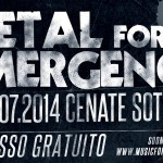 METAL FOR EMERGENCY 2014: annunciate le date
