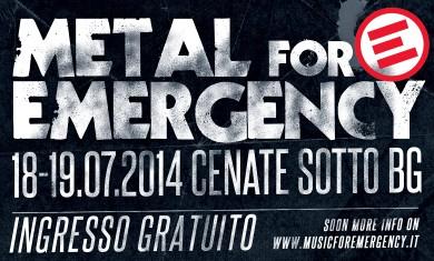 metal for emergency - locandina - 2014
