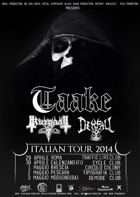 taake - italian tour - 2014