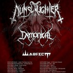 NUNSLAUGHTER, DEMONICAL, WARFECT: tour europeo a luglio, due date in Italia