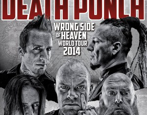 five finger death punch - wrong side of heaven tour - 2014