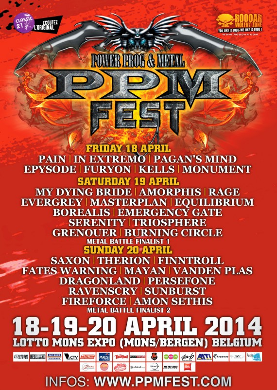 prog power & metal fest - locandina - 2014