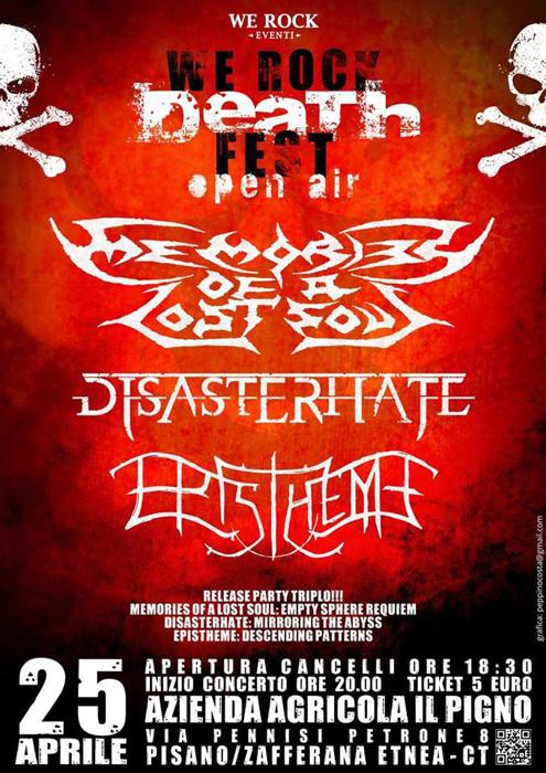 we rock death fest - locandina 2014