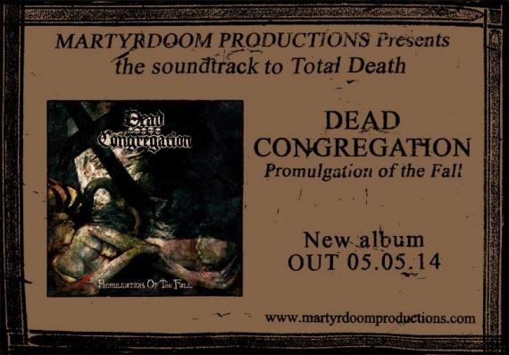 Dead Congregation - Promulgation Of The Fallen flyer - 2014