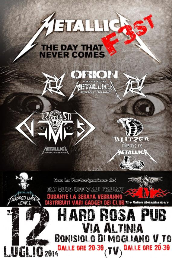 Metallica F3st - locandina - 2014