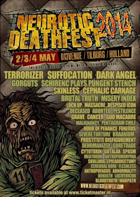 Neurotic Deathfest 2014 - flyer definitivo