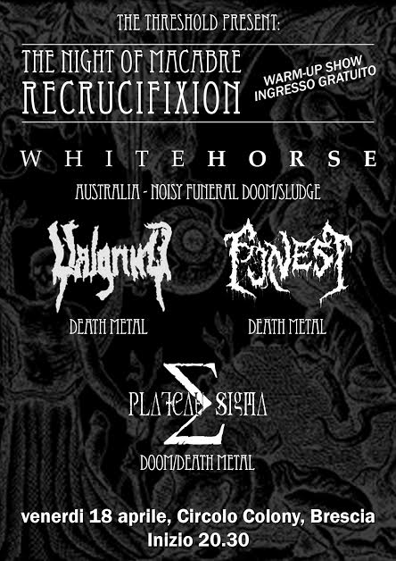 The Night Of Macabre Recrucifixion Warm-up show - flyer 2014