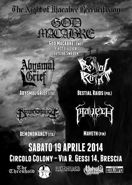 The Night Of Macabre Recrucifixion - flyer 2014