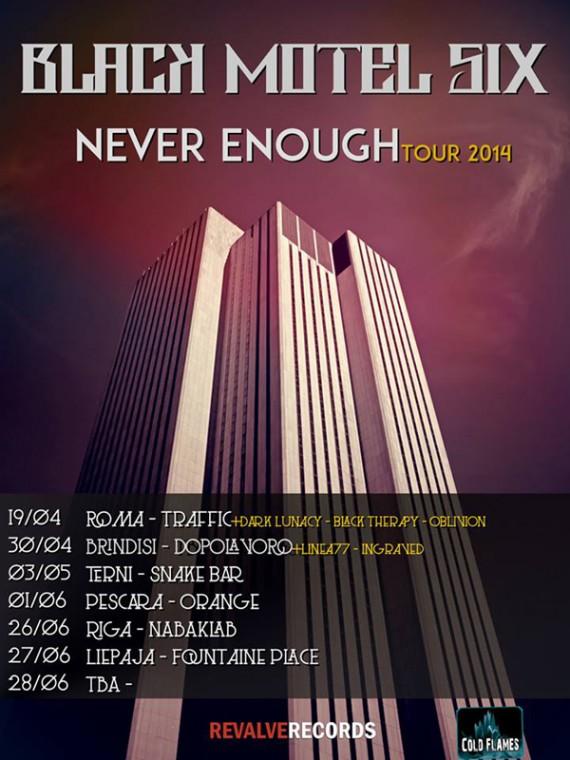 black motel six - locandina tour 2014