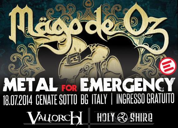 metal for emergency 2014 - locandina aggiornamento