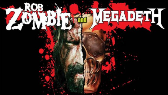 rob zombie megadeth - live - 2014