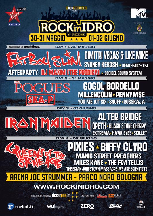 rock in idro 2014 - locandina