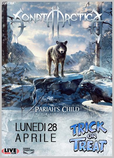 sonata arctica - locandina live club - 2014