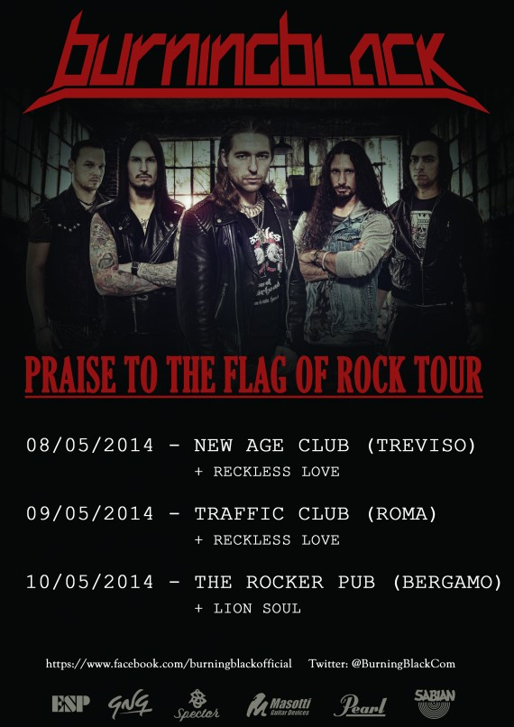 BURNING BLACK - locandina tour - 2014