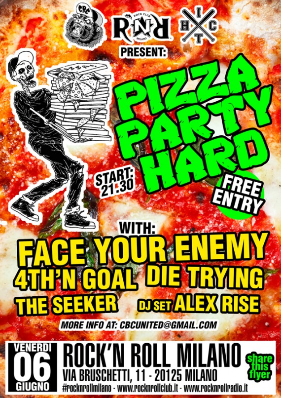 face your enemy - flyer milano - 2014