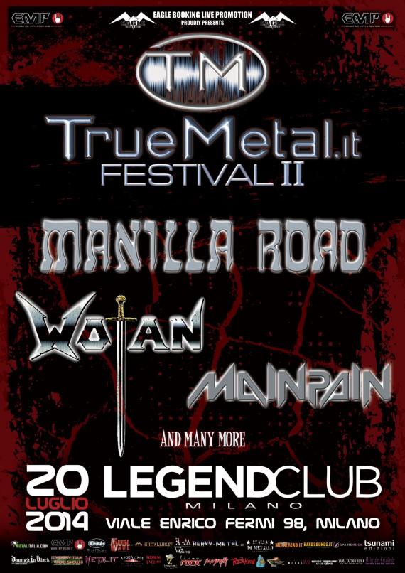 truemetal festival 2014 - prima locandina