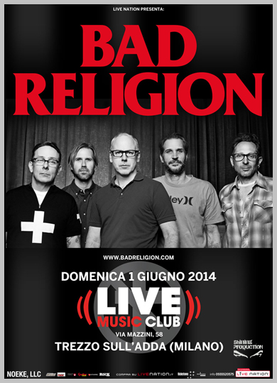 bad religion - live club - 2014